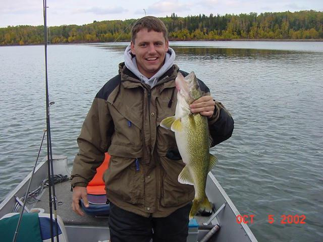 Bob With a football shaped walleye