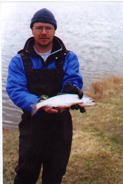 rainbow trout fishing Blood Indian Reservoir Alberta