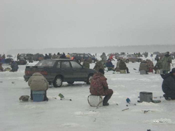 Nice Day for Ice Fishing