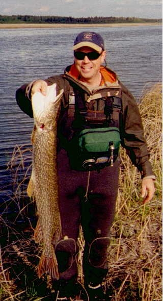 Pike on a flyrod!
