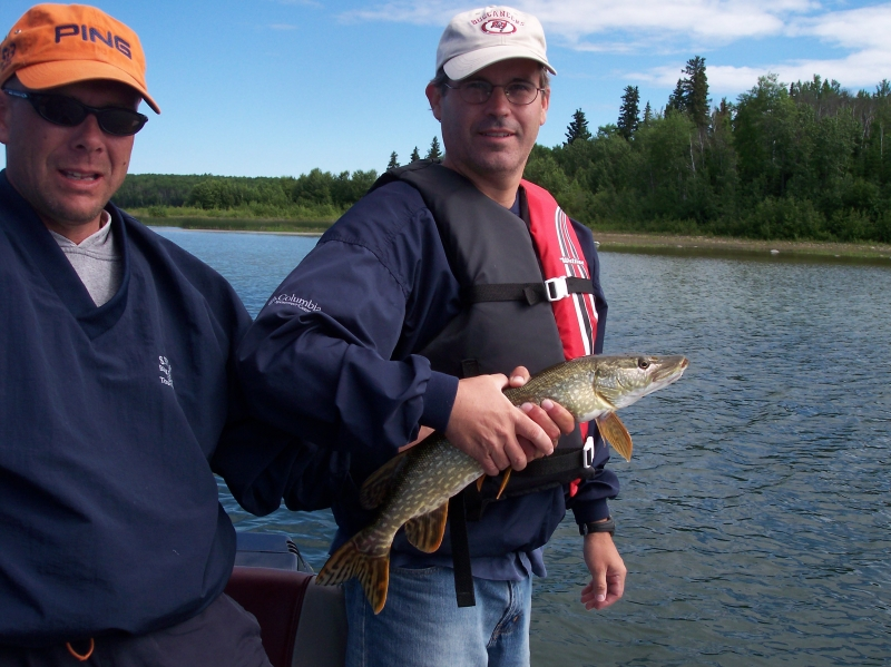 Pike fishing in Saskatchewan