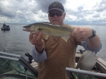 A good walleye for the live well.