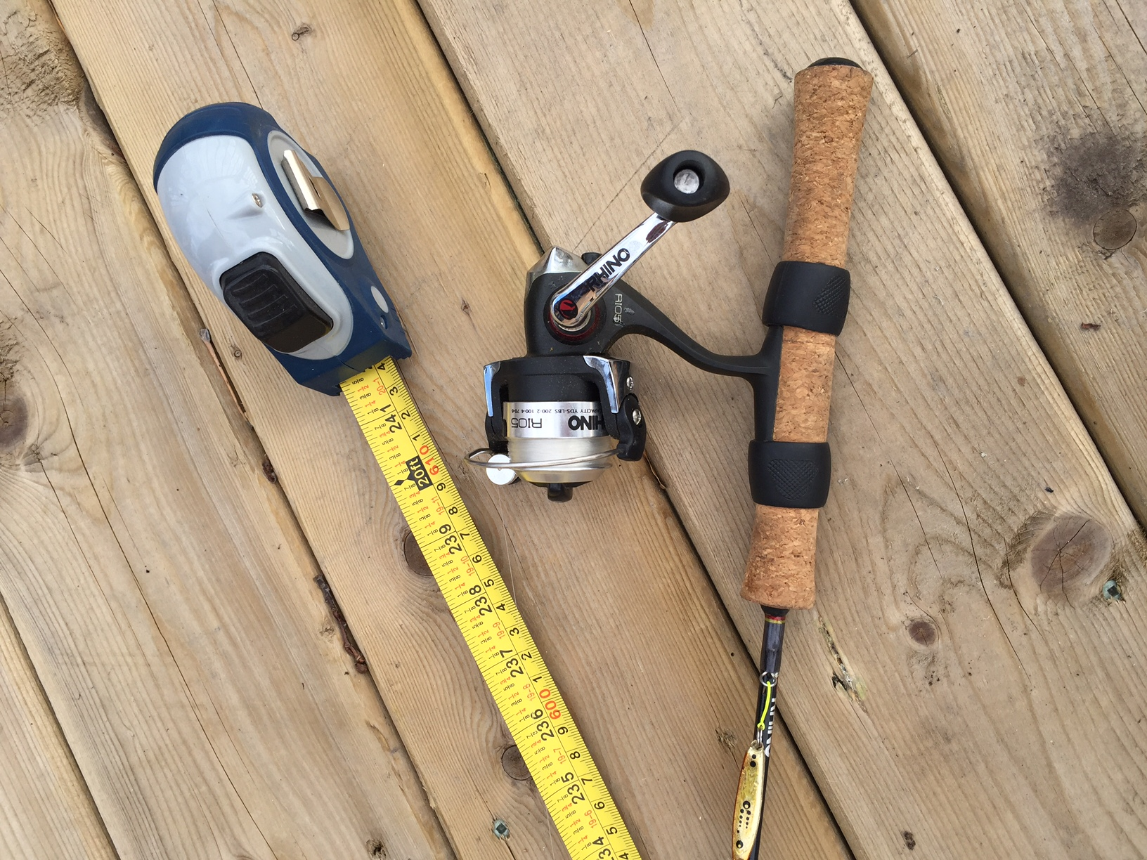 Use your reel as a depth finder prairie outdoors for Ice fishing locators