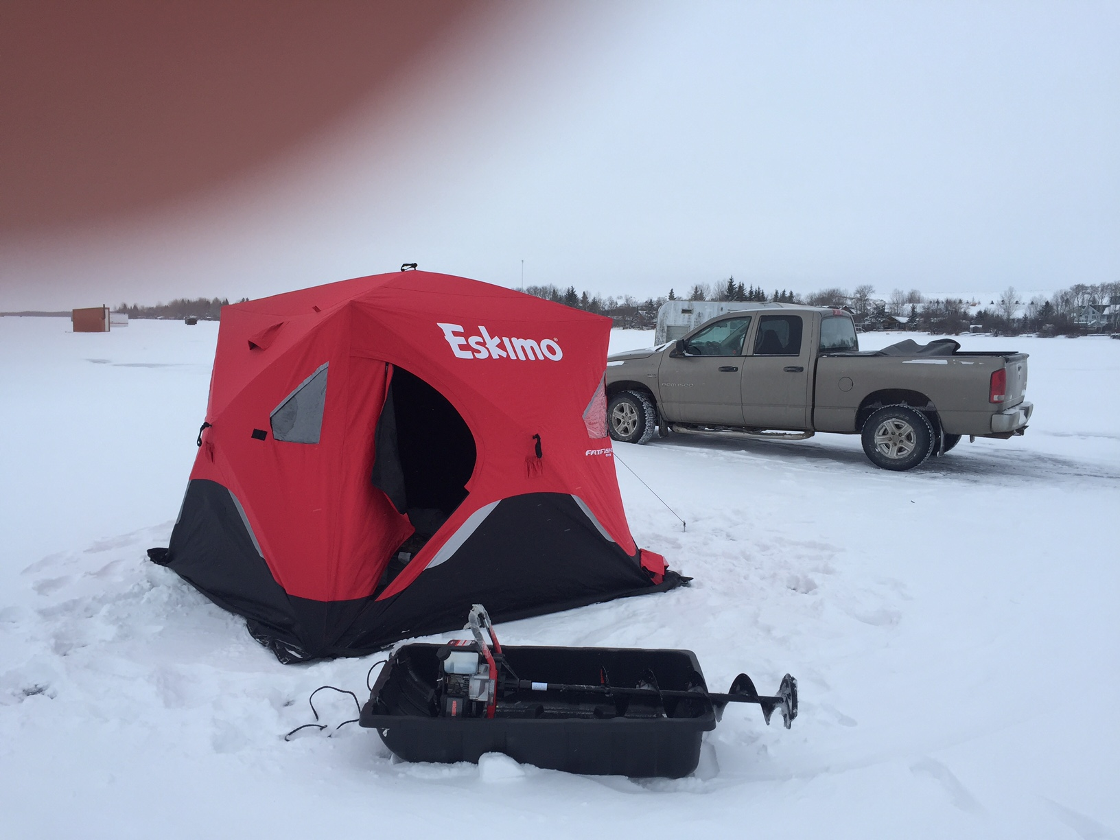 Pop Up Fishing Shelter : Ice shack removal prairie outdoors